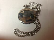 Citroen 2CV Van ref44 emblem on polished silver case pocket watch