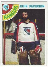 1978-79 TOPPS HOCKEY #211 JOHN DAVIDSON - EXCELLENT-
