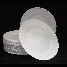 """54 X 9 """" / 23cm Blanco Platos fuerte resistente plástico desechable-Boda"""