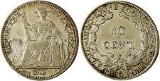 INDOCHINE   -  10  CENT  ARGENT 1912