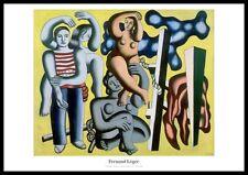 Fernand Leger Die Papageien Poster Kunstdruck Bild im Alu Rahmen 70x100 cm