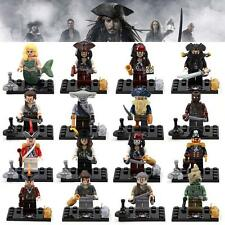 16pcs Pirates of the Caribbean MiniFigures Building Blocks Toys new 2015