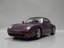 Burago 1:24 1993 Porsche 911 Carrera Purple replica model Classic sports car