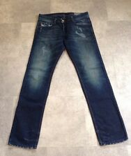 DIESEL DARRON JEANS SIZE 33x32 BLUE EYECONS 2013/1 EDITION DISTRESSED SEE PHOTOS