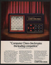 1981 MATTEL Electronics COMPUTER CHESS Game VINTAGE MAGAZINE ADVERTISEMENT