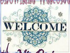 MarNic Designs ~ SNOWFLAKE WELCOME ~ XS Chart Only ~ winter sampler