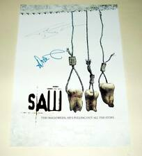 """SAW III CAST X2 PP SIGNED POSTER 12""""X8"""" BELL & WAHLBERG"""