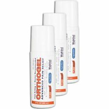 Orthogel Advanced Pain Relief Roll On 3 oz- 3 Pack analgesic DOCTOR RECOMMENDED!