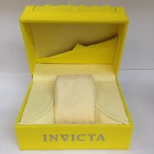 New INVICTA IPM 80 Original Yellow Watch Box With Outer Box