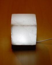 White Salt Lamp Cube Shape USB Himalayan Rock Salt Stone Square LIght