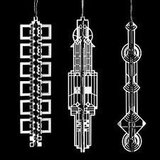 Frank Lloyd Wright WrightSicles Gift Set 1 Christmas Tree Ornaments NIB