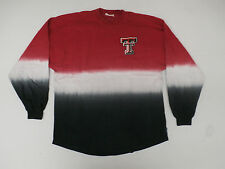 Texas Tech Raiders Women's Long Sleeve Dip-Dyed Spirit Jersey Red Size S NWT