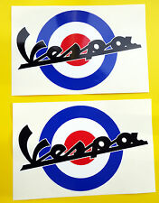 VESPA SCOOTER MoD Target style Union Jack FLAG ROUNDEL stickers decal 200mm wide