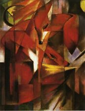 Franz Marc The Fox Handmade Abstract Oil Painting repro