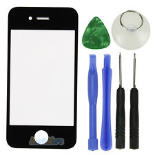 Replacement Front Screen Glass Lens Cover for iPhone 4S Black + Tools Kit US