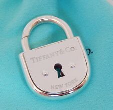 Tiffany & Co Silver Large New York Arc Lock Padlock Pendant Charm w Pouch Mint!