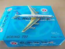 Net Model - 500 1:500 el al de Israel Airlines/Flying Tiger Line boeing 707