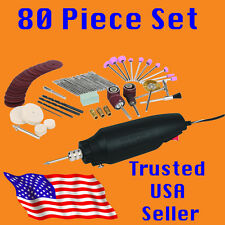 High Speed Electric Rotary Tool Hobby Kit fits Dremel bits sander cutter