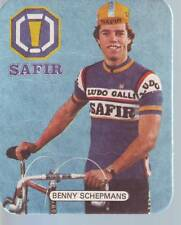 CYCLISME sous bock carte BENNY SCHEPMANS (equipe SAFIR LUDO GALLI) 1981