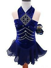 US Seller Figure Ice Skating Dance S-Costume Dress Girls Small