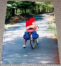 EXPOSE YOURSELF TO BICYCLING 1980 Poster Sexy Girl Babe Butt HEAD SHOP HUMOR