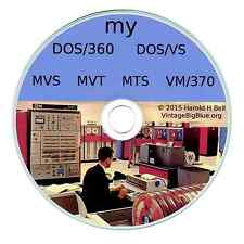 IBM Mainframe OS on PC DOS360-DOSVS-MVS-VM370-MTS-MVT  302*SOLD   FORTRAN  COBOL