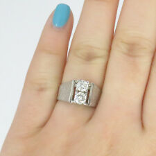 *NYJEWEL Platinum Antique Beautiful Engraved  0.5ct Diamond Wedding Band Ring