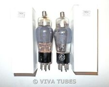 Matched Pair RCA Radiotron USA 6C6 Silver Plate SMOKED Rattle Vacuum Tubes 94%