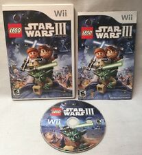 Lego Star Wars 3 The Clone Wars Wii Game. Complete. Tested. Great Condition!