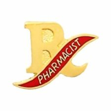 Pharmacist R/X Lapel Pin Medical Emblem Mortar Pestle Graduation Events 972 New