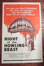 1975 Night of the Howling Beast Original 1-SH Movie Poster 27x41 FN- Paul Naschy