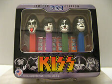 LIMITED EDITION PEZ KISS BAND COLLECTION In Tin Box - Gene Simmons Stanley Criss