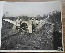 WWII PHOTO - IBT - DECOY JAPANESE PLANE WRECK - OLD LASHIO BURMA 1945