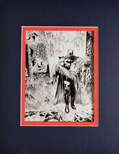 BATMAN Defeats JOKER PRINT PROFESSIONALLY MATTED Andy Kubert artwork