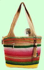 THE SAK Casual MULTI-COLOR STRIPES Crochet Shoulder Bag Msrp $84 *FREE SHIPPING*