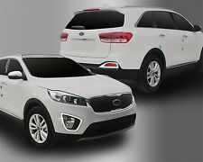 For Kia Sorento 2015+ Chrome Front and Rear Fog Light Trim Set