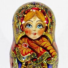 GORGEOUS AUTHOR'S RUSSIAN MATRYOSHKA BABUSHKA EXCLUSIVE NESTING DOLLS 5PCS