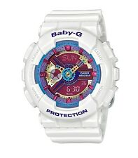 Casio Baby-G * BA112-7A Anadigi Neon Color Dial Gloss White Women COD PayPal