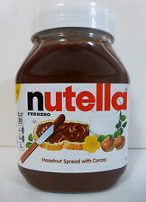 HUGE NUTELLA Ferrero HAZELNUT SPREAD with Skim Milk & Cocoa over 2 LB FAST SHIP
