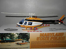 White Rose Bell Jet Ranger  Maryland State Police Helicopter - 1:43 Scale - New