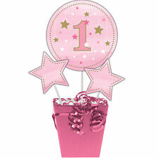 3 Twinkle Little Star Girl's Birthday Party Table Centerpiece Decoration Sticks