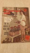 1955 PICTUREGOER FILM MAGAZINE Cover JACQUELINE CURTIS, Chelsea flower show girl