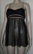 VICTORIA'S SECRET VERY SEXY BLACK SHEER NIGHTGOWN SIZE LARGE