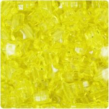 250 Yellow Transparent 13mm Star Pony Beads Plastic Made in the USA