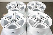 16 4x100 4x114.3 White Wheels Fits Civic Integra Scion Xb Ion Lancer Miata Rims