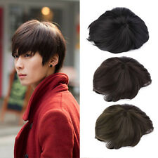 Korean Men's Handsome Short Straight Hair Full Wigs Cosplay Party 3 Colors L0