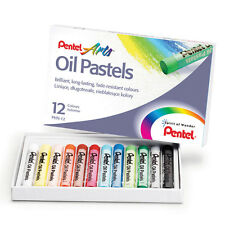 Oil Pastels by Pentel Artist's Pastels - Pack of 12 Vivid Colours