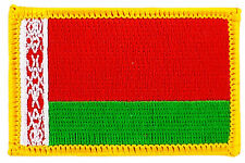 FLAG PATCH PATCHES BELARUS BELARUSIAN  IRON ON COUNTRY EMBROIDERED WORLD SMALL