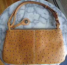 Vintage Dooney & Bourke Camel Ostrich Small Shoulder Bag