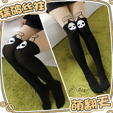 Cute Girl's  Pantyhose Overwatch Reaper Cosplay Fake Thigh High Tights Stocking